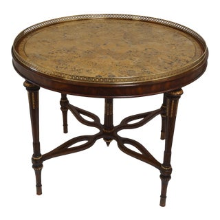 Maitland Smith Round Marbled Stone Entry Table