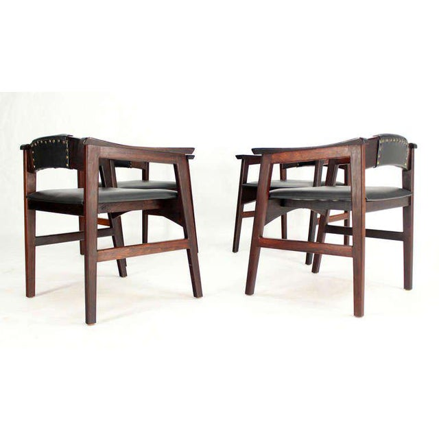 1960s Vintage Danish Mid-Century Modern Rosewood Dining Chairs - Set of 4 For Sale - Image 10 of 11