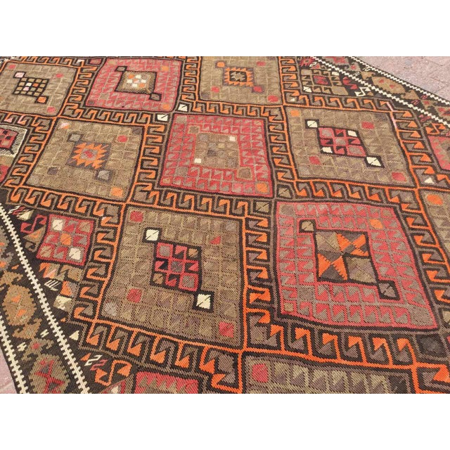 Vintage Oversized Kilim Rug For Sale In Raleigh - Image 6 of 9