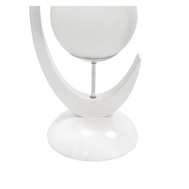 """Glass Unusual Mid-Century Modern """"C"""" Shape Table Lamp with Glass Globes Shades For Sale - Image 7 of 7"""