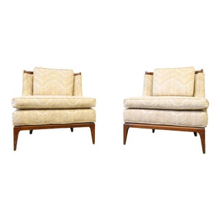 Mid Century Erwin-Lambeth for Tomlinson Slipper Chairs- A Pair For Sale