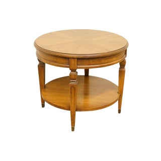 Hekman Furniture Bookmatched Mahogany Round Accent Table For Sale