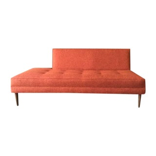 Mid Century Style Custom Day Bed Tweed Sofa For Sale