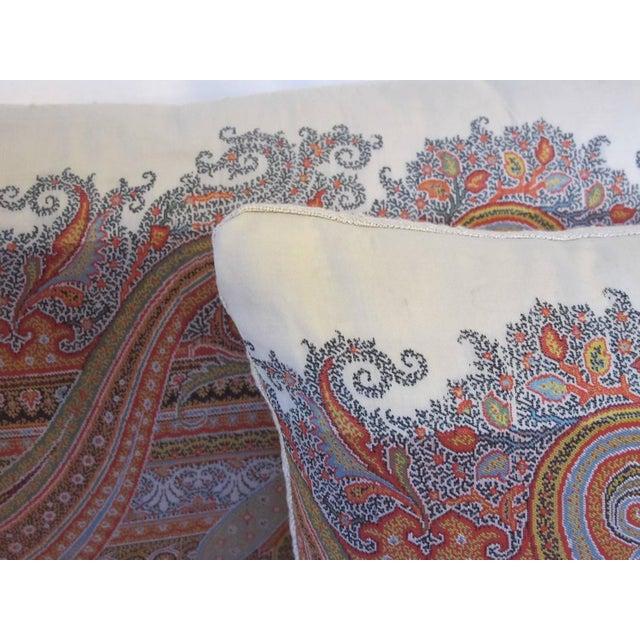 19th Century Scottish Wool Paisley Pillows - Pair - Image 3 of 3