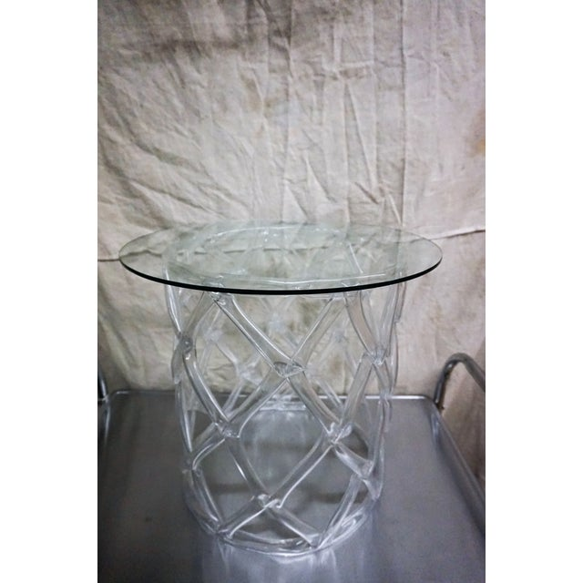 Tony Duquette Style Clear Lucite Ribbon Table - Image 3 of 5