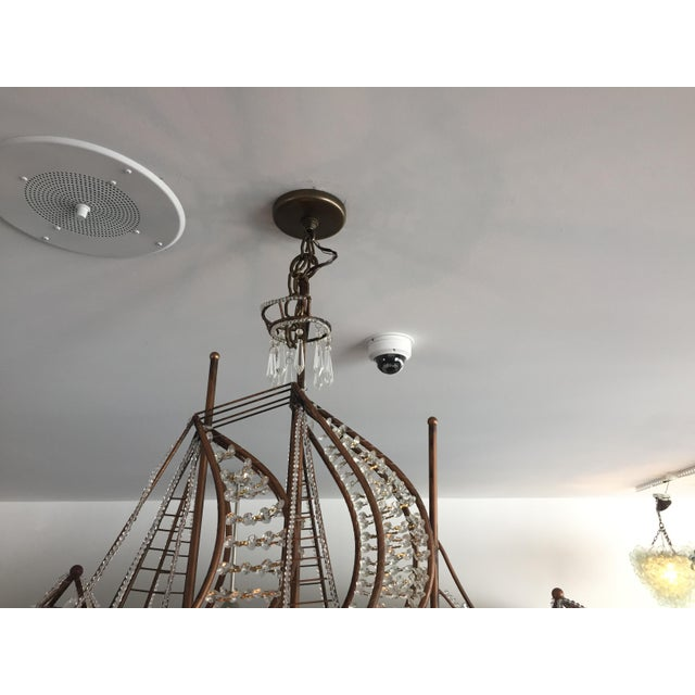 This stylish Maison Bagues inspired chandelier was acquired from a Palm Beach estate and will add a bit of whimsy and...