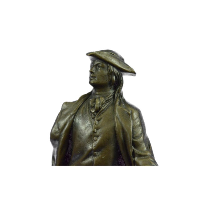 Benjamin Franklin Bronze Sculpture - Image 7 of 9