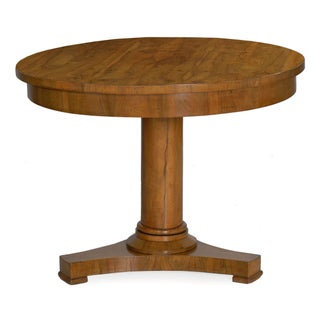 19th Century Austrian Biedermeier Walnut Antique Round Center Table Preview