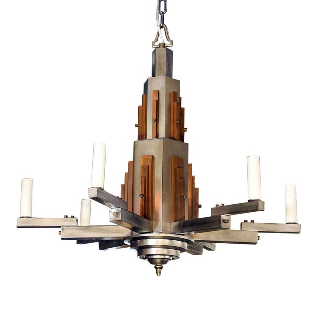 Wonderful Bold Deco Chandelier For Sale - Image 13 of 13