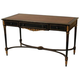 1930s Louis XVI Style Leather Top Desk For Sale