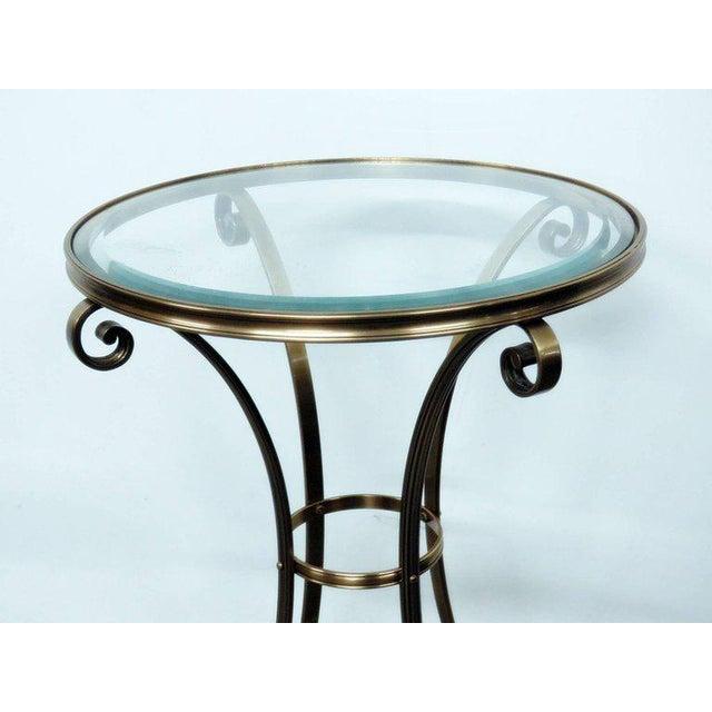 Regency Hollywood Regency Style Glass Top Gueridon For Sale - Image 3 of 6