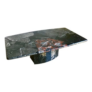 Mid 20th Century Post Modern Italian Terrazzo Marble Coffee Table For Sale