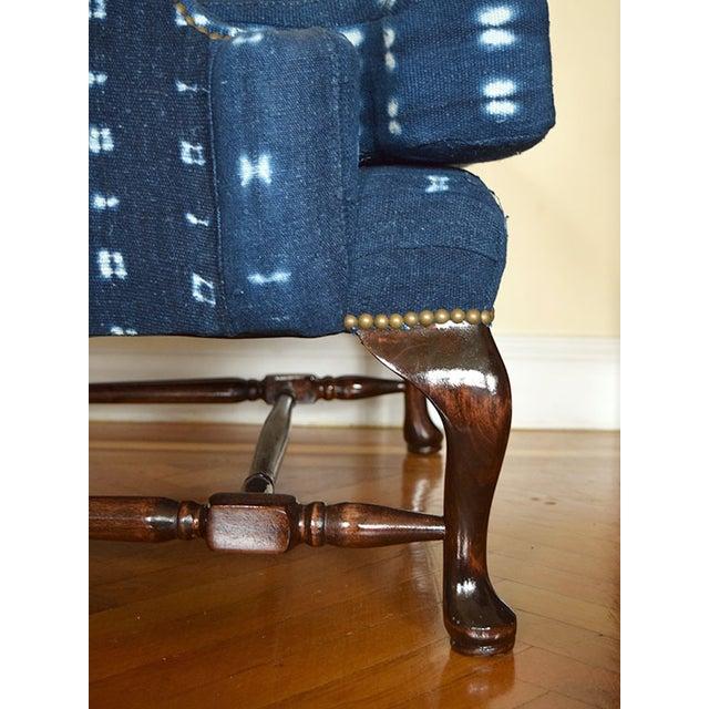 Indigo Mali Mudcloth Wingback Chair - Image 6 of 9