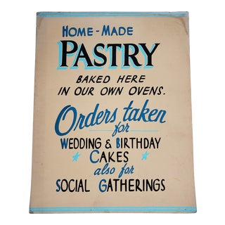 Mid 20th Century Vintage Pastry Bakery Sign For Sale