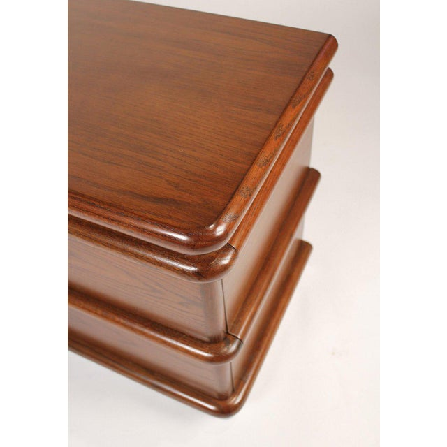 Metal Jay Spectre Modernist Walnut and Brushed Stainless Nightstands For Sale - Image 7 of 10