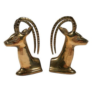 Brass Ibex Bookends Preview