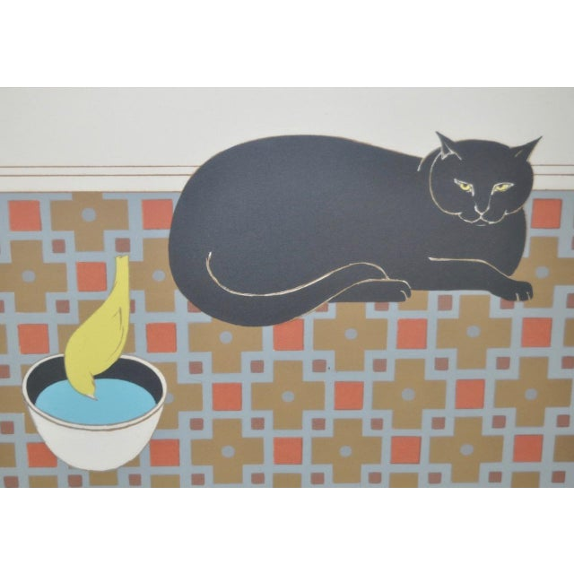 "Will Barnet ""Cat and Canary"" Pencil Signed Lithograph C.1970s For Sale - Image 4 of 10"