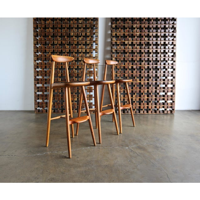 Vilhelm Wohlert for Stolefabriken Odense Danish Stools- Set of 3 For Sale - Image 13 of 13
