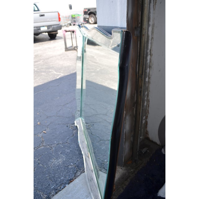 Chrome Scalloped Venetian Wall Mirror For Sale - Image 8 of 13