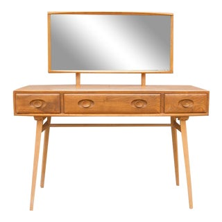Mid Century Modern Dressing Table and Mirror For Sale
