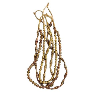 Tribal African Brass & Copper Bead Strands - Set of 4