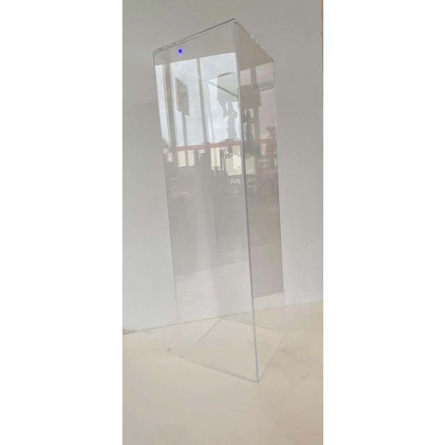 "42"" Lucite Pedestals Floor Samples bySnob Galeries - a Pair For Sale - Image 10 of 13"