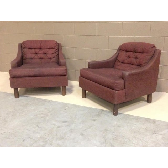 Selig Low Lounge Chairs - A Pair - Image 3 of 7