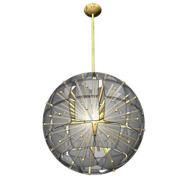"""Sputnik Rock Crystal Chandelier, """"Nova"""", Limited Edition For Sale - Image 4 of 7"""