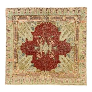 Vintage Turkish Sivas Silk Rug - 02'04 X 02'06 For Sale