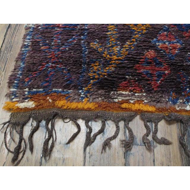 Blue Beni Mguild Moroccan Berber Rug For Sale - Image 8 of 10