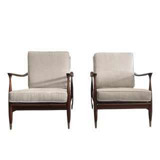 20th Century Kai Kristiansen Easy Chairs - a Pair For Sale