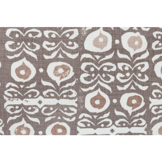 Boho Chic Rapture & Wright Iznik Boho Custom Linen Pillows, Pair For Sale - Image 3 of 5