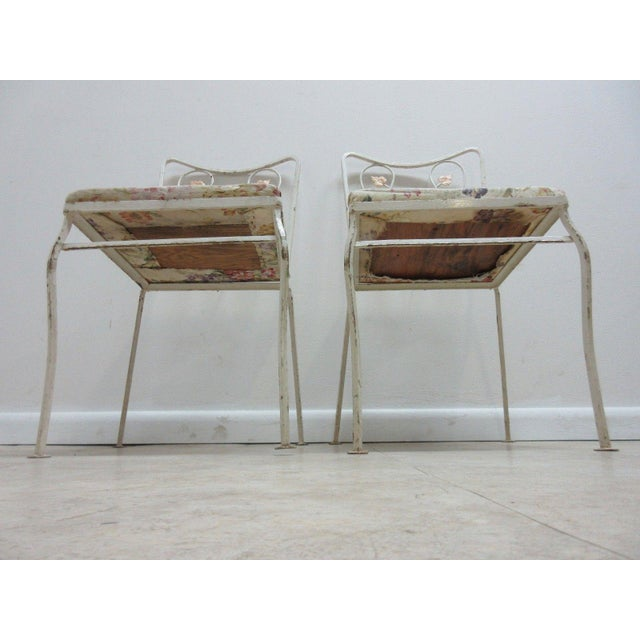 Woodard Furniture Co. Vintage Woodard Outdoor Patio Metal Dining Set For Sale - Image 4 of 7