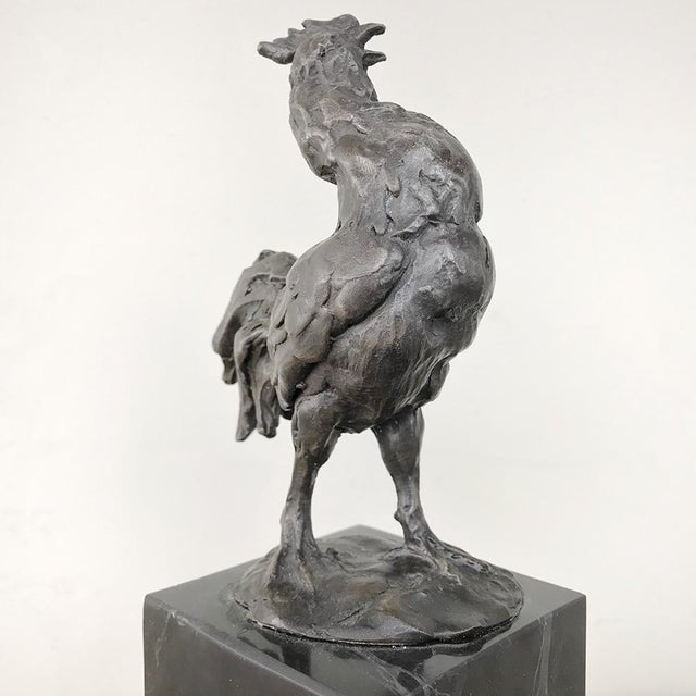 Mid-Century Bronze Statue of Rooster For Sale - Image 9 of 13