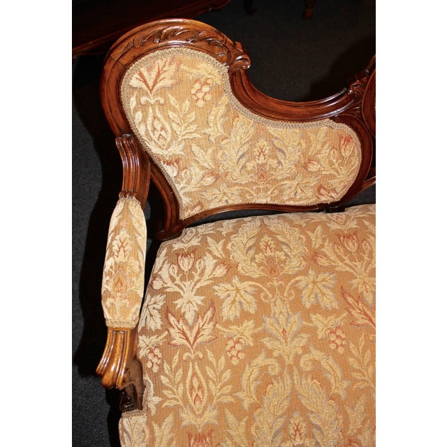 Brown French Louis XV Walnut Settee For Sale - Image 8 of 9