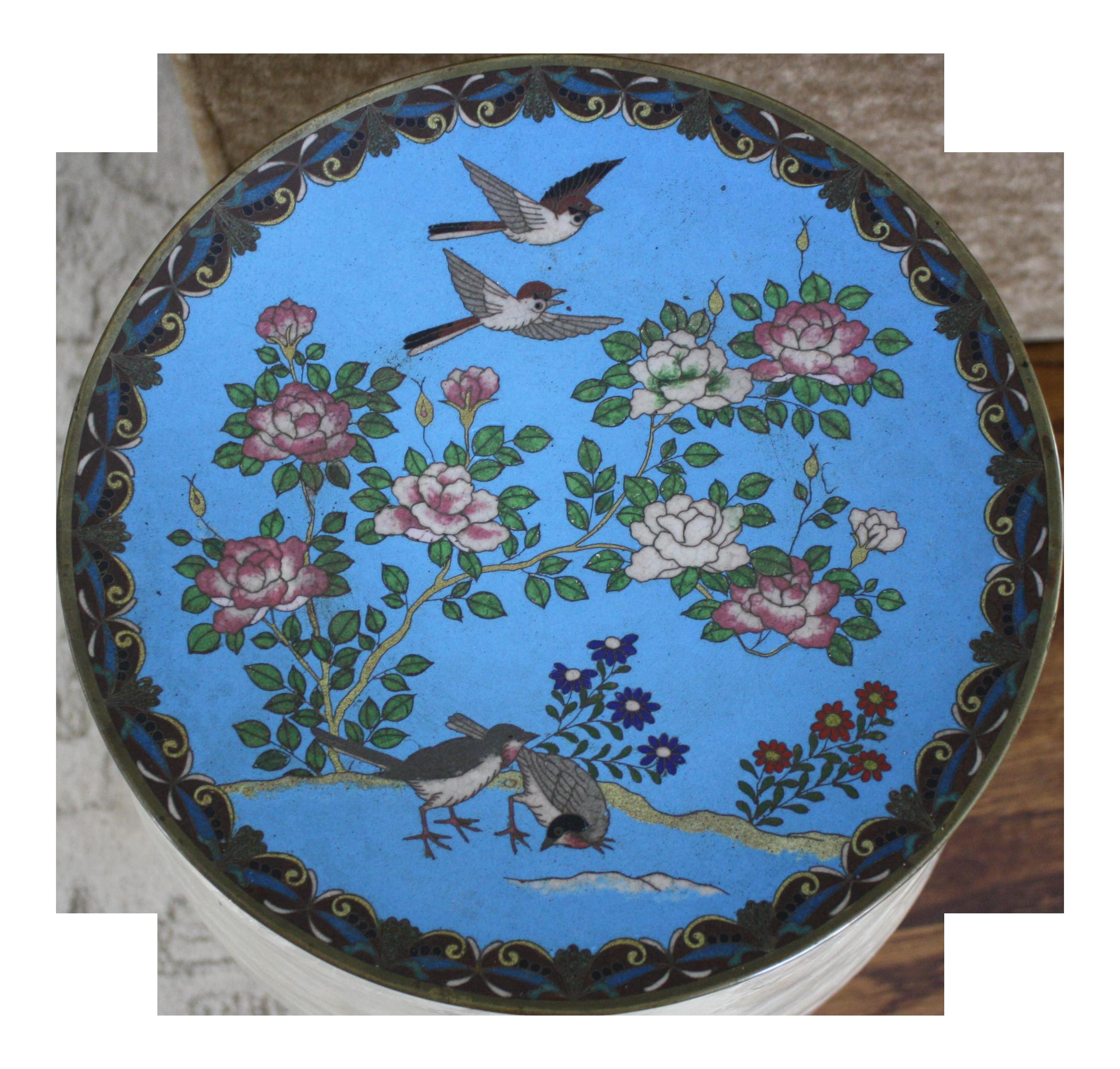Antique Japanese Meiji Period Cloisonné Charger Plate  sc 1 st  Chairish & Vintage \u0026 Used Japanese Decorative Plates   Chairish