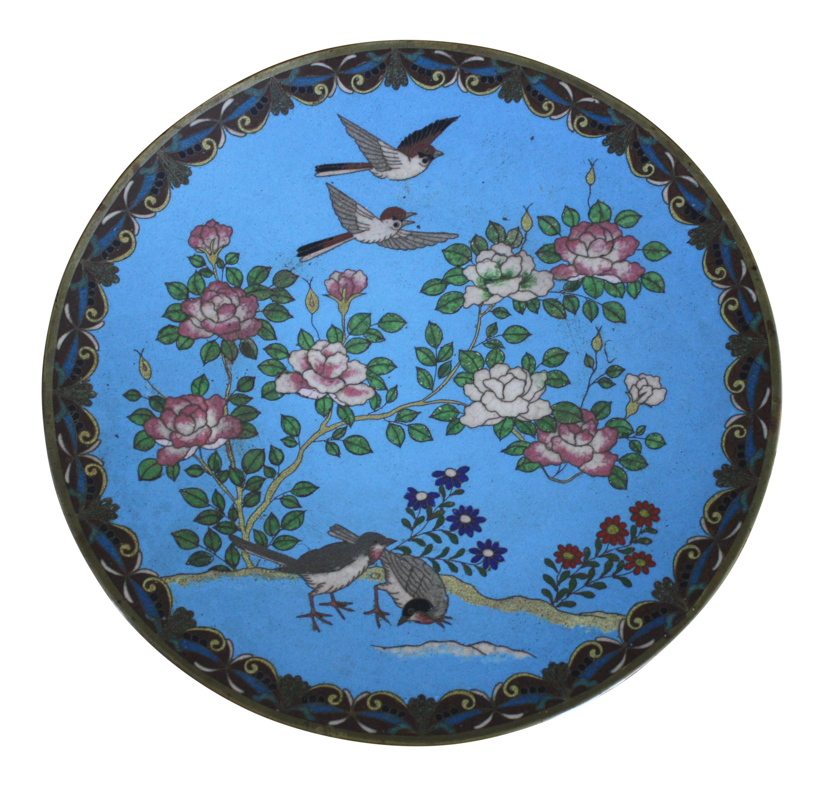 Antique Japanese Meiji Period Cloisonné Charger Plate  sc 1 st  Chairish & Vintage u0026 Used Japanese Decorative Plates | Chairish