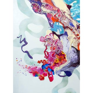 """Kimber Berry """"Pixie Dust and Other Magic"""" Abstract Textured White, Pink, Blue, Purple Acrylic Painting For Sale"""