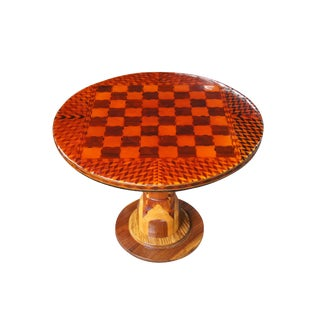 20th Century Italian Arts & Crafts Chess Checkers Side Table For Sale