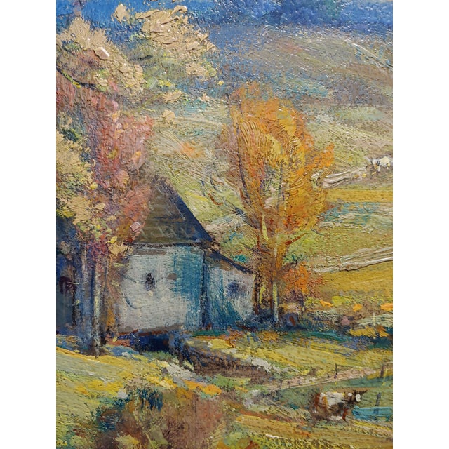 1900 - 1909 New England Country Side Landscape Oil Painting For Sale - Image 5 of 10
