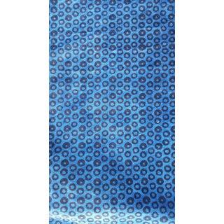 Blue Leopard Print Cotton Velvet