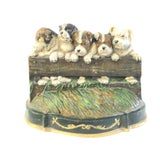 Image of English Cast Iron Puppy Door Stop For Sale