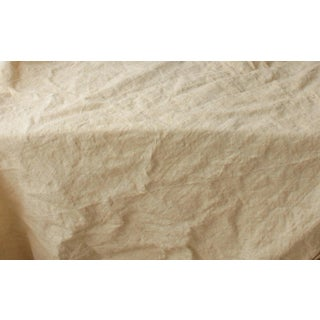 "Antique Rustic Heavy Hemp Fabric - 85""x73"" For Sale"