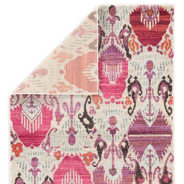 Jaipur Living Lavendula Ikat Ivory & Pink Area Rug - 4′ × 5′8″ For Sale - Image 4 of 6