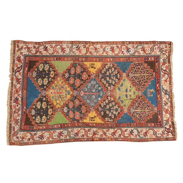 "Vintage Colorful Turkish Melas Rug - 4'6"" X 7' - Image 1 of 9"