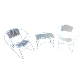 Maurizio Tempestini for Salterini Hoop Rocking Chair Set- 3 Pieces For Sale