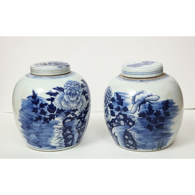 1980s Chinese Export Ginger Jars - A Pair For Sale - Image 5 of 13