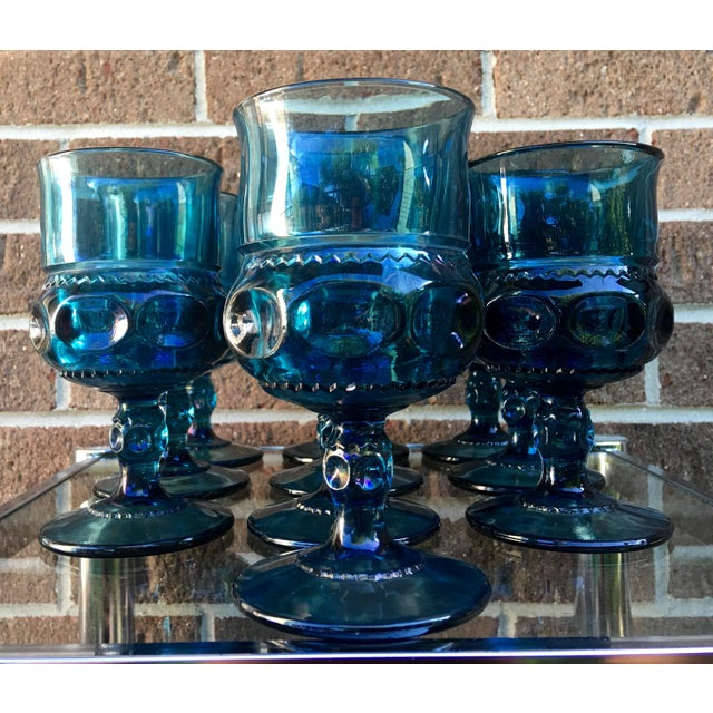 Teal Kings Crown Wine Goblets - Set of 20 - Image 4 of 5
