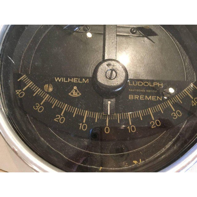Industrial Chrome Ship's Clinometer by W. Ludolph, 1980s For Sale - Image 3 of 5