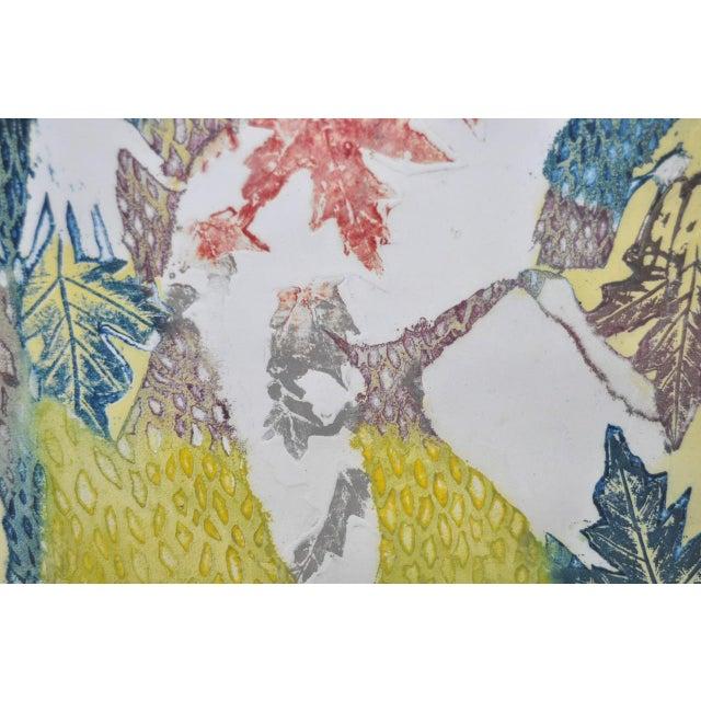 "Turquoise Circa 1986 Sasha Wasko ""Life Cycle - Fall"" Aquatint Etching For Sale - Image 8 of 10"